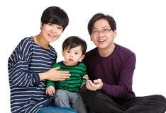 Retrato asiático de la familia Fotografía de archivo