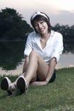 Retrato asiático de la muchacha Fotografía de archivo