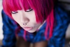 Retrato asiático del cierre de la muchacha Imagenes de archivo