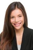 Retrato asiático del profesional de la mujer de negocios Fotos de archivo