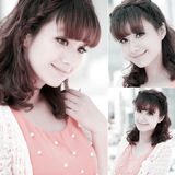 Retrato asiático doce da menina Imagem de Stock Royalty Free