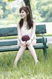 Retrato asiático lindo de la muchacha Imagen de archivo libre de regalías