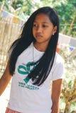 Retrato asiático, muchacha del estudiante en uniforme escolar Imagen de archivo libre de regalías