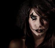 Retrato aterrorizante de la bruja imagen de archivo libre de regalías