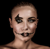 Retrato aterrorizante de la bruja fotos de archivo
