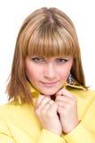 Retrato atractivo de la mujer joven Imágenes de archivo libres de regalías