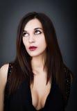Retrato atractivo de una mujer italiana fotos de archivo libres de regalías