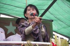 Retrato Aung San Suu Kyi fotos de archivo