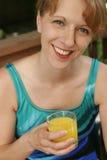 Retrato azul do swimsuit Fotos de Stock Royalty Free