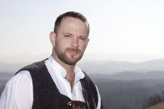 Retrato bávaro do homem da tradição fotografia de stock royalty free