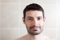 Retrato barbudo del hombre de los últimos años 30 Foto de archivo libre de regalías