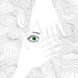 retrato beaty da mulher do Mão-desenho ilustração do vetor