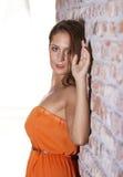 Retrato bonito apto da mulher Imagens de Stock