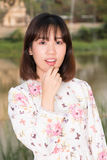 Retrato bonito da fôrma da rapariga Foto de Stock