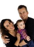 Retrato bonito da família Fotos de Stock