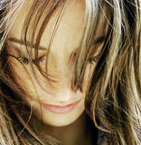 Retrato bonito da menina Imagem de Stock Royalty Free