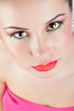 Retrato bonito da menina, com pele limpa. Fotografia de Stock