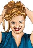Retrato bonito da menina da forma foto de stock royalty free