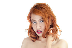 Retrato bonito da mulher Foto de Stock
