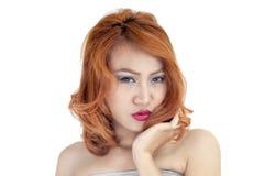 Retrato bonito da mulher Foto de Stock Royalty Free