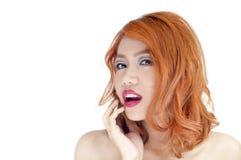 Retrato bonito da mulher Imagens de Stock Royalty Free