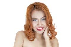 Retrato bonito da mulher Fotografia de Stock Royalty Free