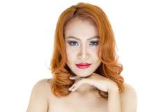 Retrato bonito da mulher Imagens de Stock