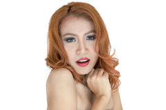 Retrato bonito da mulher Fotografia de Stock