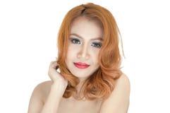 Retrato bonito da mulher Imagem de Stock
