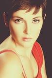 Retrato bonito da mulher fotos de stock royalty free