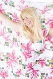 Retrato bonito da mulher da mola Imagens de Stock
