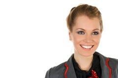 Retrato bonito da mulher de negócio do blondie Foto de Stock Royalty Free
