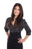 Retrato bonito da mulher de negócios Fotografia de Stock Royalty Free
