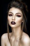 Retrato bonito da mulher no estilo asiático Imagem de Stock Royalty Free