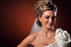 Retrato bonito da mulher nova foto de stock