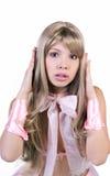 Retrato bonito da mulher nova Fotografia de Stock Royalty Free