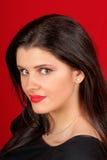 Retrato bonito da mulher nova Imagens de Stock Royalty Free
