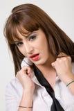 Retrato bonito da mulher nova imagem de stock royalty free