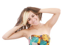 Retrato bonito da mulher nova fotos de stock royalty free