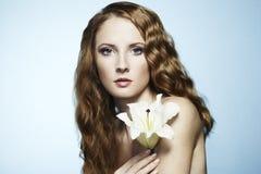 Retrato bonito da mulher sensual nova Fotografia de Stock