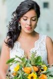 Retrato bonito da noiva Fotografia de Stock