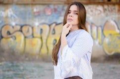 Retrato bonito de la muchacha Imagen de archivo