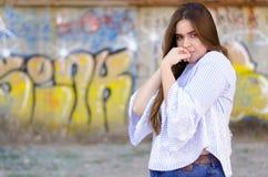 Retrato bonito de la muchacha Fotos de archivo
