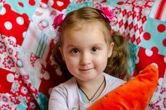 Retrato bonito de la niña Foto de archivo