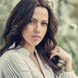 Retrato bonito de surpresa da cara da mulher - fim acima fotos de stock royalty free