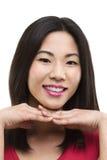 Retrato bonito de uma mulher bonita Fotografia de Stock