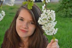 Retrato bonito do adolescente Imagem de Stock