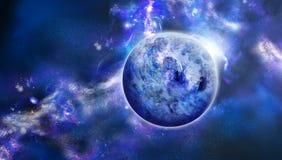 Retrato bonito do espaço azul ilustração stock
