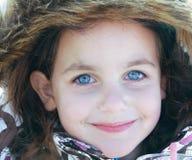 Retrato bonito do inverno da criança Fotos de Stock