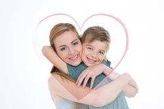 Retrato bonito do menino e da menina Foto de Stock Royalty Free